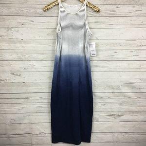 NWT Athleta sunkissed ombre striped midi dress